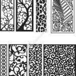 CNC pattern as decorative partition