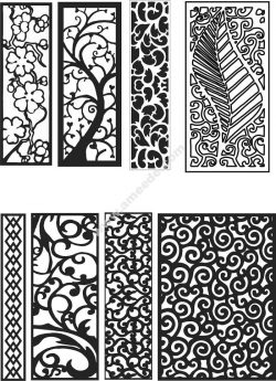 CNC pattern as decorative partition