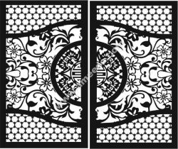 Chinese iron gate pattern