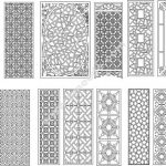 Chinese traditional patterned partition