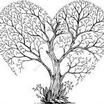 tree heart art