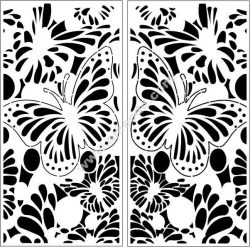 Decorative butterfly motifs