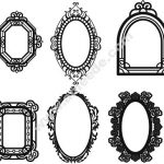 Decorative mirror motifs