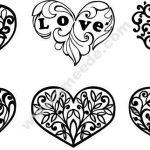 Decorative pattern of love hearts