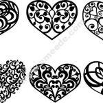 Heart decoration pattern
