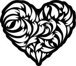 Heart engraved motifs