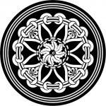 Mandala Arabic inspired round geometric pattern