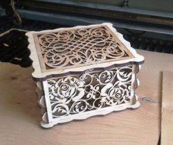 Rose jewelry box