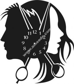 Scissor clock and couple