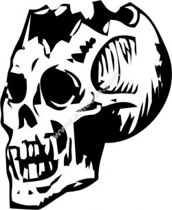 Skull art vector
