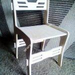 assembled wooden chair