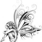 butterfly wings girl