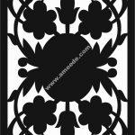 cnc cutting partition floral pattern