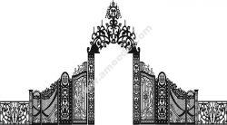 couple wedding gate