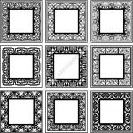 decorative frame square