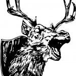 evil deer art