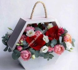 flower hexagon box