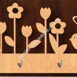 flowers key holder