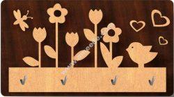 flowers key holder