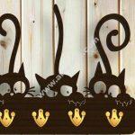 key hanger three cats