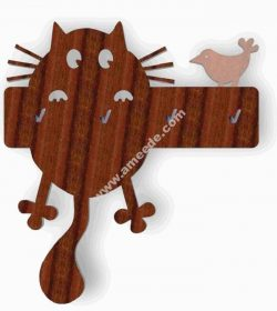 key holder Cat and the Bird
