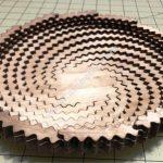 laser cut spiral tarelk