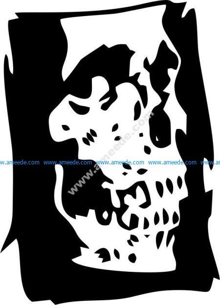 skull book vector art