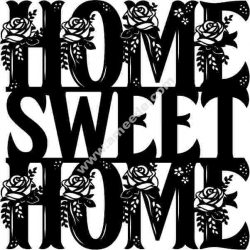 sweet home English calligraphy