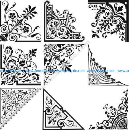 vector set of corner decoration