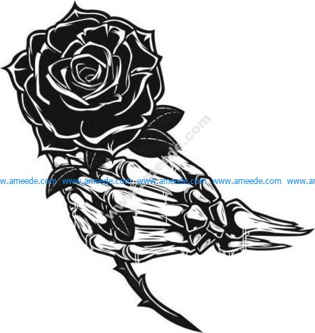 Zombie hands holding roses
