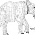 3d image of elephant causing illusion vector