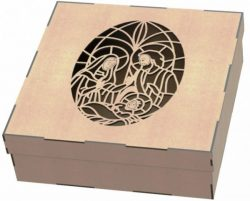 Parents gift box file .cdr and .dxf free vector download for Laser cut plasma