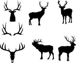 Animal design in the shape of deer