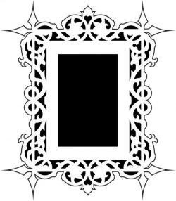 Artistic mirror frame design