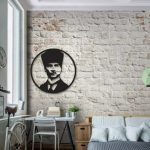 Ataturk pattern design decorated the living room