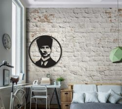 Ataturk pattern design decorated the living room