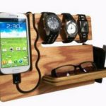 glass shelves, watches, phones, wallets