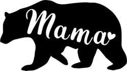 Bear image for printing t-shirts