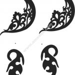 Beautiful earrings vector