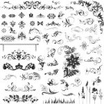 Beautiful floral decoration vector pattern