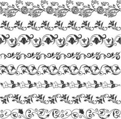 Beautiful floral vector frame pattern with wire frame border