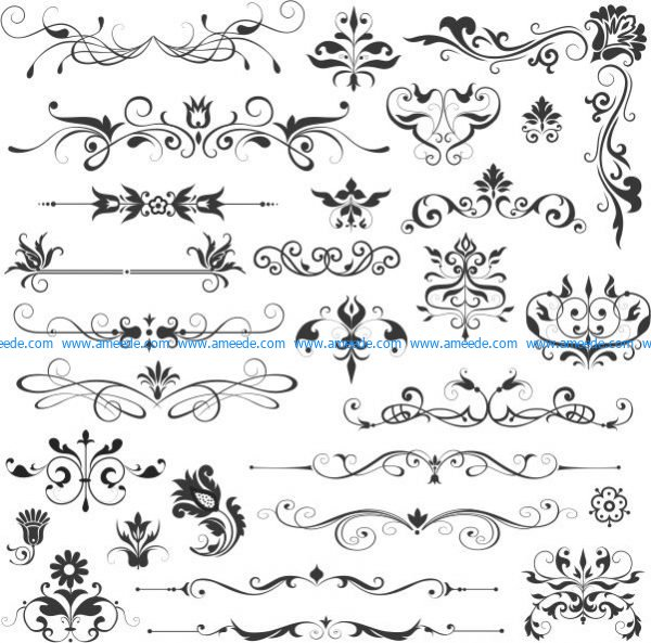 Beautiful vector decorative patterns