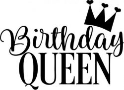 Birthday Queen T-shirt print image