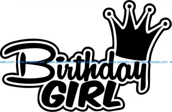 Birthday girl T-shirt print image