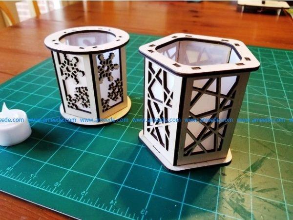 Candle Holder Lantern Snowflake