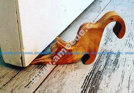 Cat Wooden Door Stop Wedge CNC Cut Template