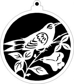 Christmas decoration ball with ringlet bird file .cdr and .dxf free vector download for Laser cut plasma