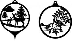 Christmas decorations for Christmas deer and birds  file .cdr and .dxf free vector download for Laser cut plasma
