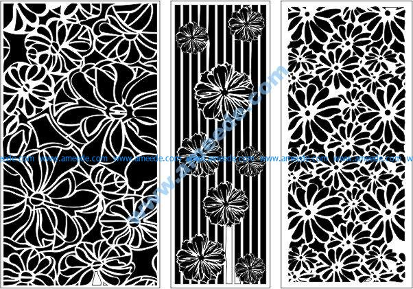 Chrysanthemum motif wall pattern