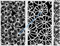 Chrysanthemum motifs decorated with baffles